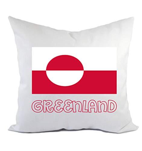 Typolitografie Ghisleri Kissen Grönland Flagge Kissenbezug & Füllung 40 x 40 cm aus Polyester