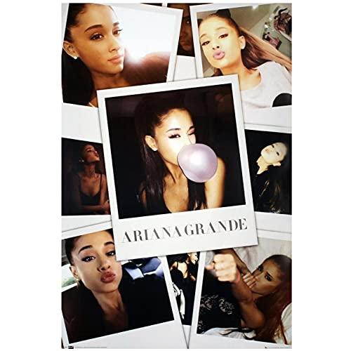 WEUEWQ Ariana Grande Star Selfie Copertina Dell Album Poster Immagine Sfondo Decorazione della Parete Soggiorno Regali per La Casa-20X28 Pollici Senza Cornice 1 Pz