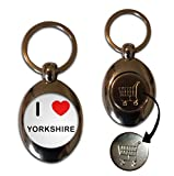 BadgeBeast.co.uk I Love Heart Yorkshire - Llavero de fichas de monedas...