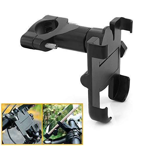 QIDIAN 360° Rotation Motorcycle Cell Phone Handlebar Holder Handlebar Adjustable Aluminum Rearview Mirror Phone Mount for Bicycles Mountain Bike Road Bike Motorcycles
