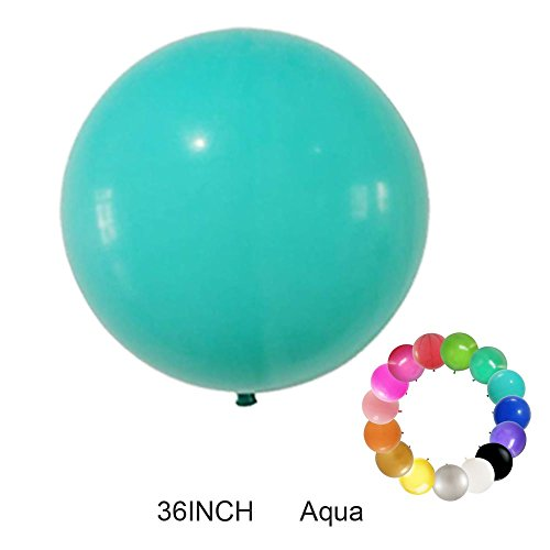 Besttt-Seller 2 pack--36 Inch Giant Round Balloons Latex Balloons / Wedding/Birthday Party Decorations/Photo Shoot/Festivals Christmas Decorations (Aqua)