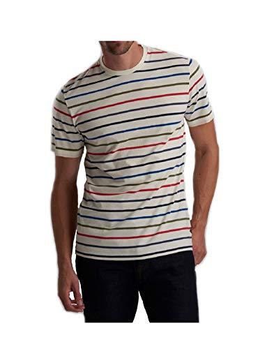 Barbour T-Shirt Uomo b intl Steve McQueen radial Stripe Whisper White ss19 XXL
