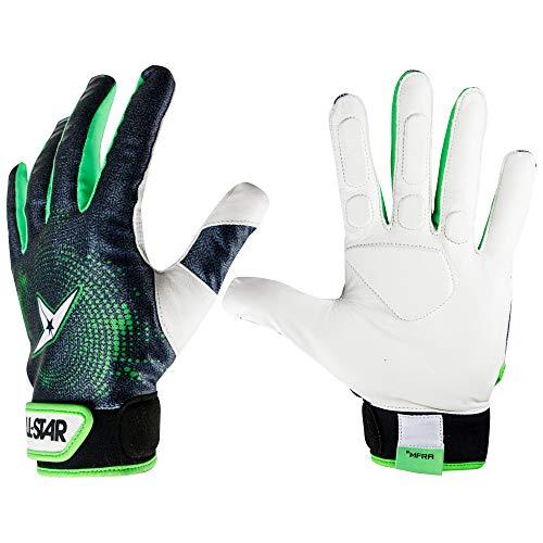 Converse All-Star Erwachsene Fingers Baseball Catcher Innenschutz Handschuhe, schwarz/grün, Medium Worn on Left Hand