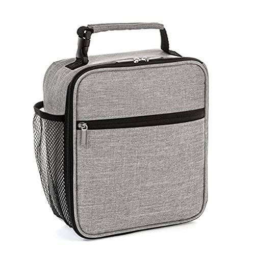 Bolsa isotérmica para almuerzo, pequeña bolsa de almuerzo suave e impermeable, bolsa térmica para adultos, hombres, mujeres y niños, fitness, exterior, picnic, escuela
