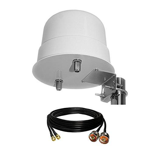 3G / 4G LTE 12dBi Außenkuppelantenne 800-2600 MHz + Duplexkabel 5 m