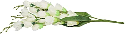 Crystal Artificial Natural Looking Orchid Flowers for Home and Garden Decor (70 cm, White)