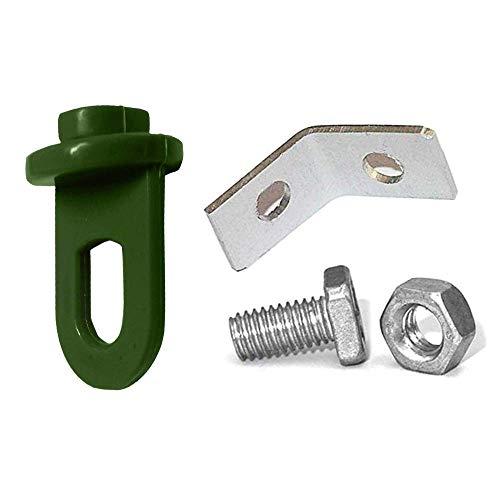 G-More Gewächshausclips, Verstärkte Pflanzenhalter für Ihr Gewächshaus, Gewächshaus Zubehör, Rankhilfe für Ihre Pflanzen (30 Kunststoff + 10 Aluminium)