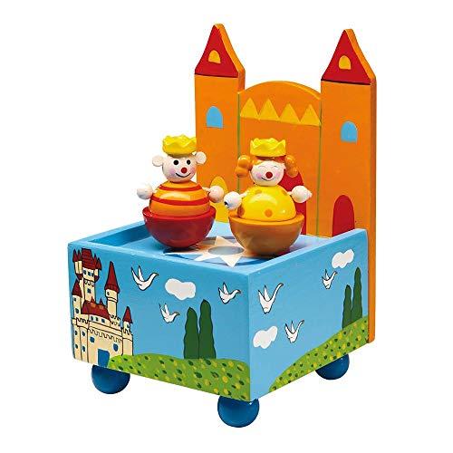 """small foot sanftes Einschlafen 8128 Spieluhr Schloss aus bunt lackiertem Holz, Figuren tanzen zur Melodie """"An der schönen blauen Donau, Mehrfarbig"""