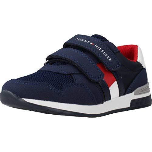 Tommy Hilfiger Trainer Azul Eco Ante Infantil Entrenadores Zapatos