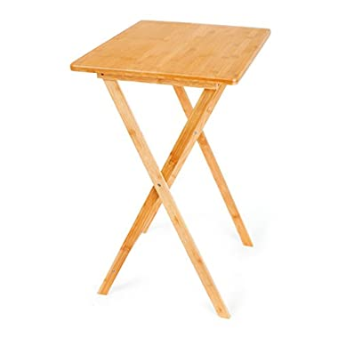 BirdRock Home Bamboo Foldable TV Dinner Table   Easy Storage   Fully Assembled   Lightweight   Sustainable Material