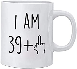 Funny 40th Birthday Gift for Women and Men Ceramic Coffee Mugs Anniversary Gifts for Him, Her, Husband or Wife - Forty Gag Party Cup Idea Adult Presents for Mom, Dad