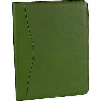 green leather portfolio