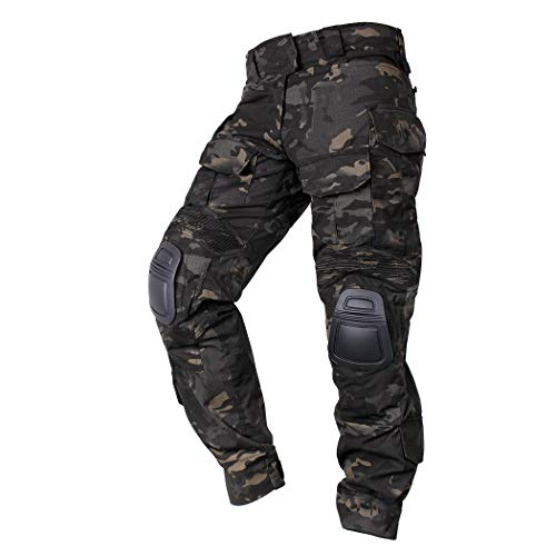IDOGEAR Men G3 Combat Pants Multicam Camouflage with Knee Pads Airsoft...