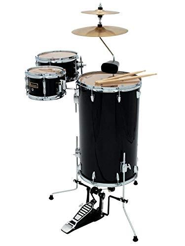 Dimavery CDS Cocktail Schlagzeug, schwarz | 5-teiliges Cocktail Schlagzeug Set, ideal für kleine Bühnen