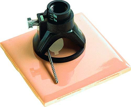 Dremel 566 kit de corte de azulejos, juego de accesorios con guía de corte y broca de corte helicoidal para realizar cortes de precisión en azulejos