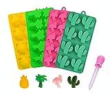 Silikon-Formen für Süßigkeiten, Kaktus, Flamingo, Kokosnussbaum und Ananas, für die Herstellung...