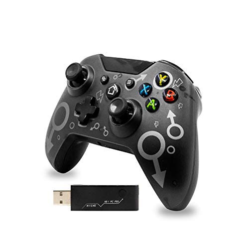 günstig Controller für Xbox One, 2,4 GHz Wireless Controller für Xbox One / PS3 / PC, Wireless Bluetooth Game Pad Ergonomisches Design Joystick Dual Vibration Joystick (Schwarz)