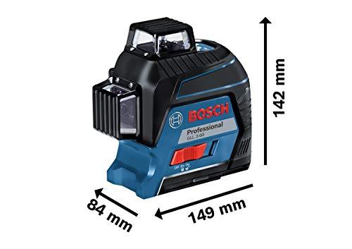 Bosch Professional Linienlaser GLL 3-80 (roter Laser, max. Arbeitsbereich: 30 m, 4x AA Batterie, im Handwerkerkoffer) - 7