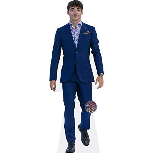 Celebrity Cutouts Charles Leclerc (Blue Suit) Pappaufsteller Mini