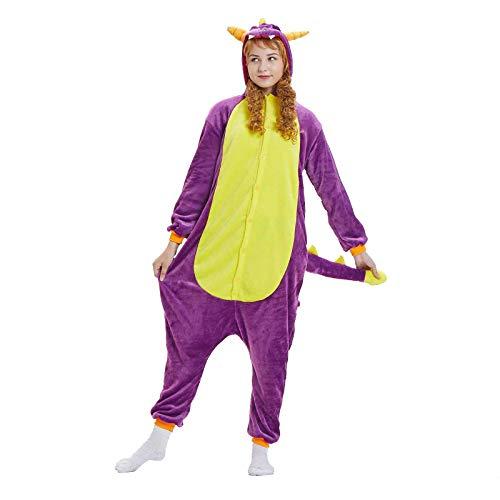 WELCO - Pijama unisex con diseo de animal, con capucha, con bolsillos, manga oversize, encantador sudadera en casa, chndal de noche para padres e hijos, disfraz de cosplay Violet19 XL