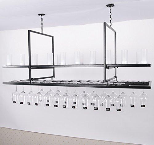 CCJW Estante de Vino/Colgante de Vino Soporte de Copa/Creativo Home Bar/Rack de vinos (200 * 35 * 60 cm)