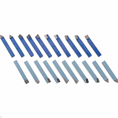 20pc 1/4' Carbide Tip Tipped Cutter Tool Bit Cutting Set For Metal Lathe Tooling