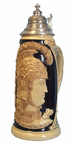 KING Jarra de Cerveza Alemana Minerva Diosa de la Guerra, Jarra suntuosa, réplica...