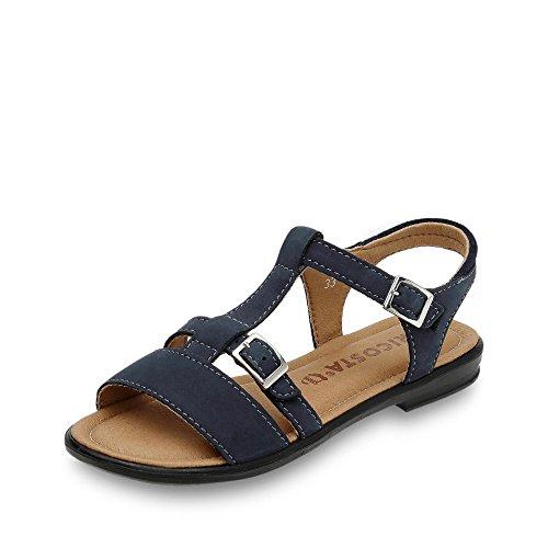 Ricosta 7021000-170 Kinder sandale aus Leder mit Klettveschluss Weite Mittel, Groesse 34, marine