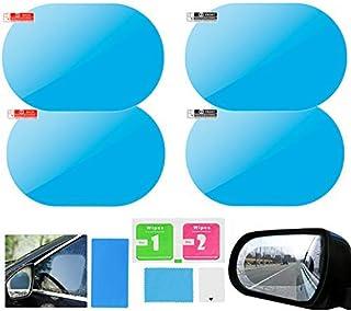 Elinala Pel/ículas Protectora de Espejo Retrovisor de Coche 6PCS Espejo Retrovisor de Coche y Cristal Lateral de Coche HD Nano-Revestimiento Transparente Pel/ícula Impermeable y Antivaho