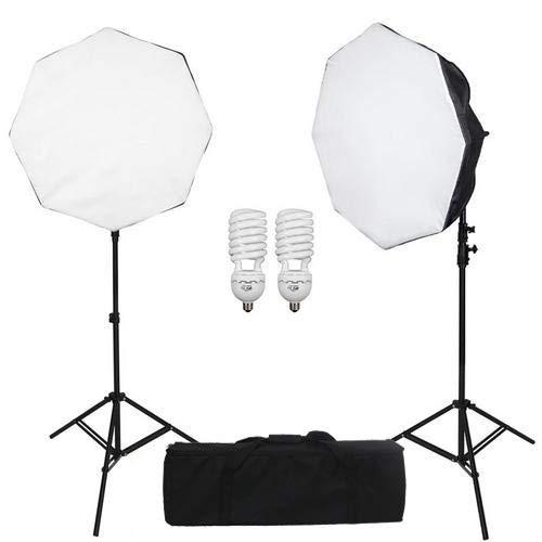 Kit de iluminação Octabox 50cm para Estúdio Fotográfico Greika Ágata III (220v)