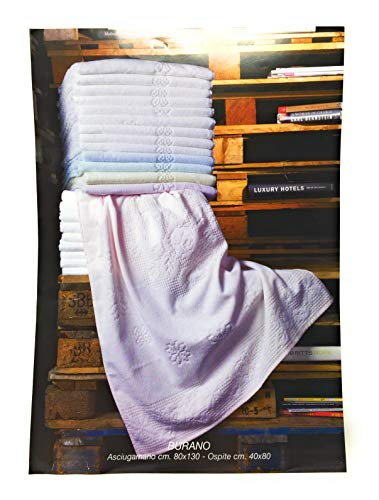 BESANA handdoeken 6+6 Art. Botervloot van zuivere badstof hydrofiele verwerking Jacquard maat Maxi uni kleur wit