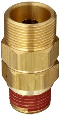 """Control Devices Brass Load Genie Unloading Check Valve, 3/4"""" Tube Comp. x 1/2"""" MPT by Control Devices"""