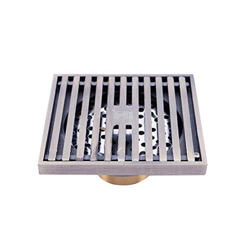 Zreal Sifon Douchevloerafvoer voor badkamer, vierkant, afneembaar, duurzaam, voor badkamer, tuin en keuken Een