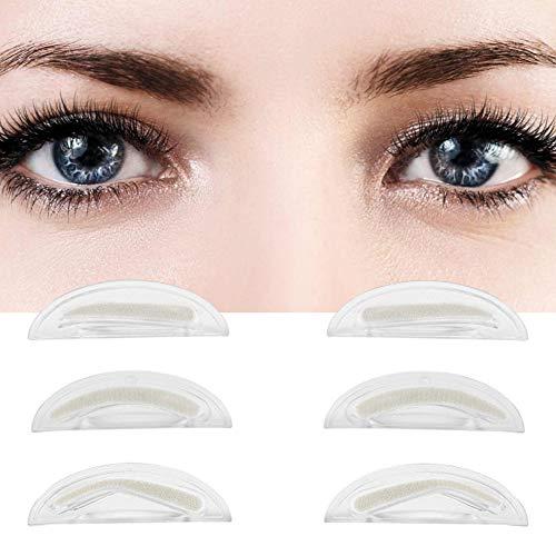 1 paire de tampons à sourcils naturels éponge sourcils forme parfaite kit d'outils de maquillage 3 types(Arched sponge + handle set)