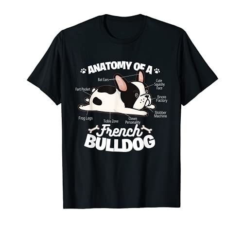 French Bulldog Graphic . Anatomy Of A French Bulldog T-Shirt