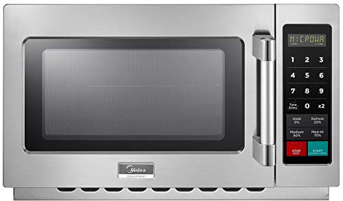 Midea Equipment 1034N1A Stainless Steel Countertop Commercial Microwave Oven, 1000W