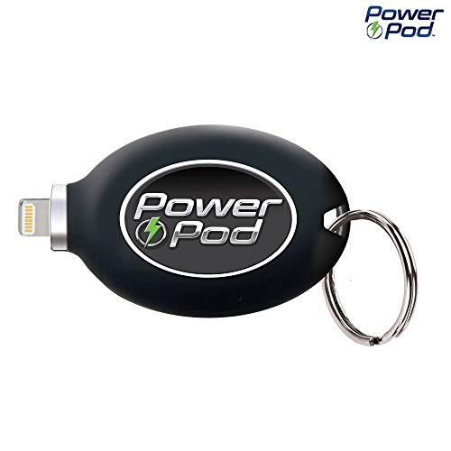 Power Pod External Phone Charger, Best Portable Charger for iPhone 6 or Newer, iPad Charger, USB Charger, Port 800 mAh Battery, iPhone Chargers As Seen on TV