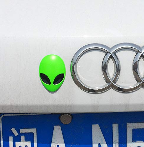Hanbaili Volle 3D Alienware Alien Kopf Logo Aufkleber LKW Tür Auto Aufkleber Grafik