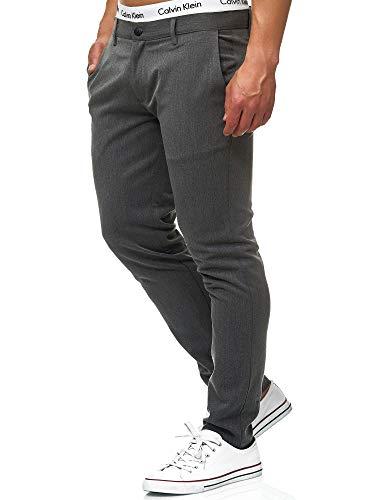 Indicode Herren Rodekro Chinohose Super Stretch mit 4 Taschen   Lange Chino Hose Herrenhose Männerhose gerader Schnitt Bequeme Regular Fit Stoffhose für Männer Charcoal Mix 36/34