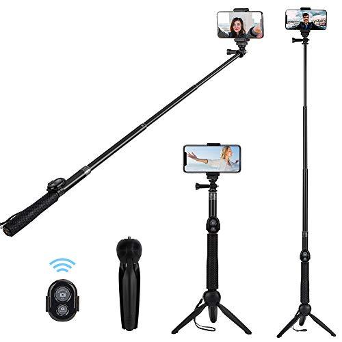 Alfort Palo Selfie, Selfie Stick Bluetooth Trípode Portátil con Control Remoto per iPhone 11 Pro/X /8 /Galaxy S10 /S9 /Honor P20 /Mate 10 y Otros Teléfonos con Android/iOS (6.0'')