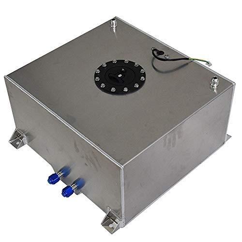 labwork Polished Aluminum 15 Gallon Racing Drift Fuel Cell Tank+Level Sender