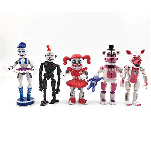 Missyou Five Nights At Freddy'S Sister Location Funtime Foxy Ballora Puppet Nightmare Freddy PVC Figura De Acción Juguetes 12-15Cm