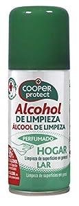 Cooper Protect   Aerosol   Alcohol de Limpieza  Perfumado  96% de Alcohol  Limpieza de Superficies  Contenido: 100 ml 120 g