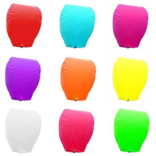 BoburyL Volare di Carta Cinesi Lanterne del Cielo con la Candela per Le Parti Memoriali Wedding lampade Volanti augura a Lanterna la Lampada