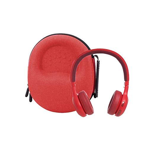 Hard Storage Case for JBL Live 500BT/JBL E45BT/JBL Live 400BT On-Ear Wireless Headphones by Aenllosi (red)