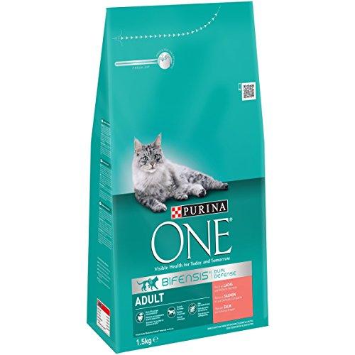 One Adult Katzenfutter Lachs, 3er Pack (3 x 1,5 kg)