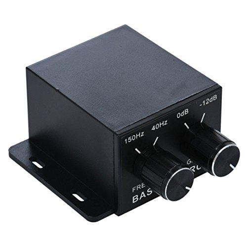 Nobsound Auto Car Amplifier Audio Subwoofer Bass Control Knob Sub Gain Equalizer Regulator Frequency Controller RCA Line Level Adjust