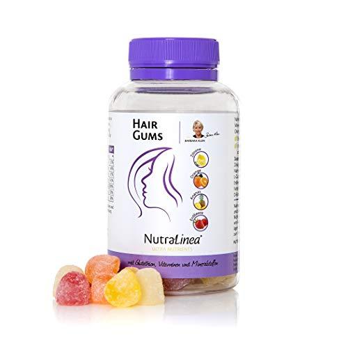 Beauty Fruchtgummis Hair Gums für die Haare mit Biotin und Vitamin E, Zink, Selen, Vegane Nascherei - Nur 7 kcal pro Gum, 132g 60 Stück für 30 Tage