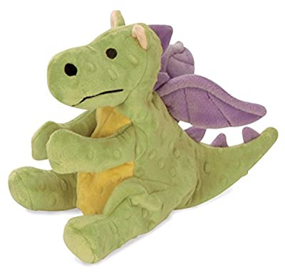 goDog Dragon With Chew Guard Technology Tough Plush Dog Toy, Lime Green, Large from Sherpa