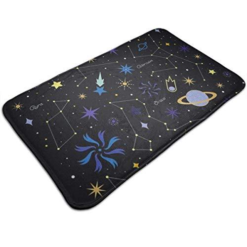 N/A badmatten anti-slip matten sterrenbeeld Star deurmatten Super absorberende binnen- en buitengebruik 19,5
